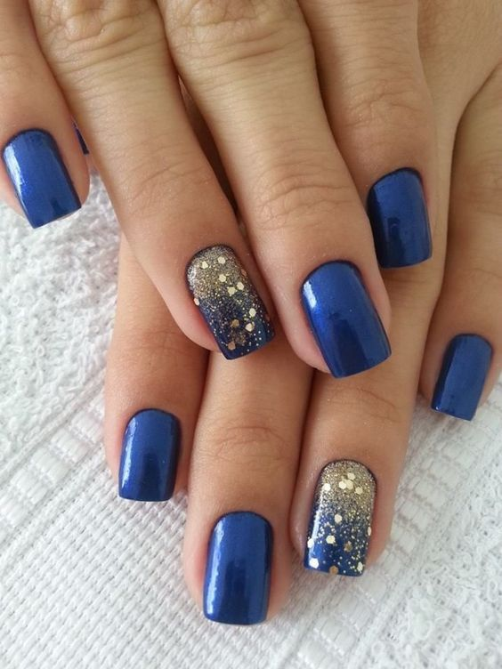 decorated nail ideas blue