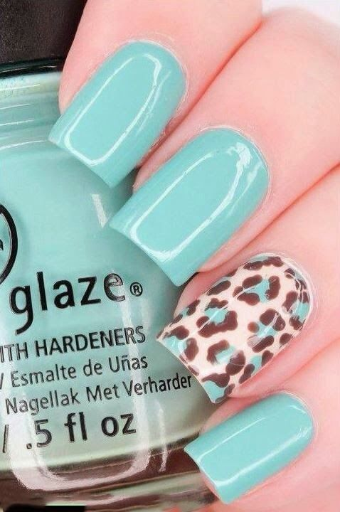 decorated nails animal print 5