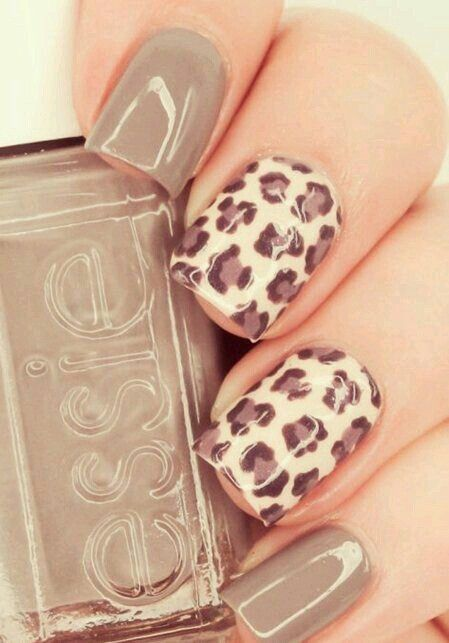 decorated nails animal print 6