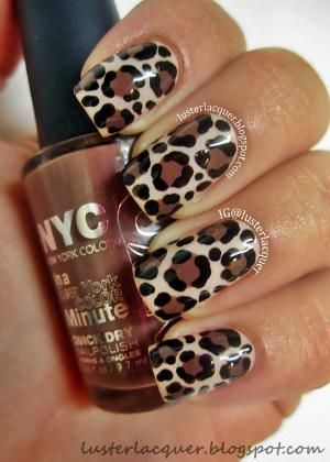 decorated nails animal print 7