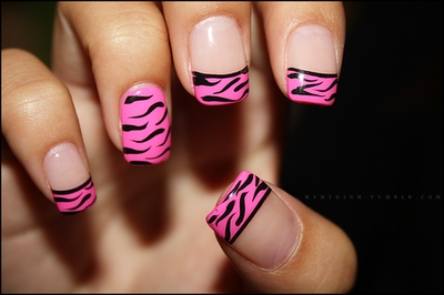 decorated nails animal