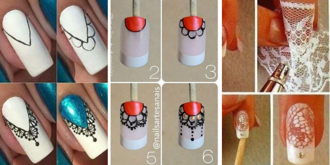 diy lace nails