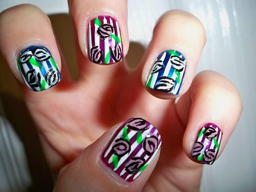 floral print cool nails