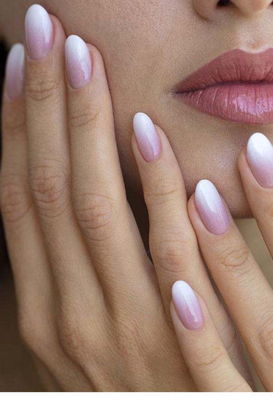 gradient nails bride