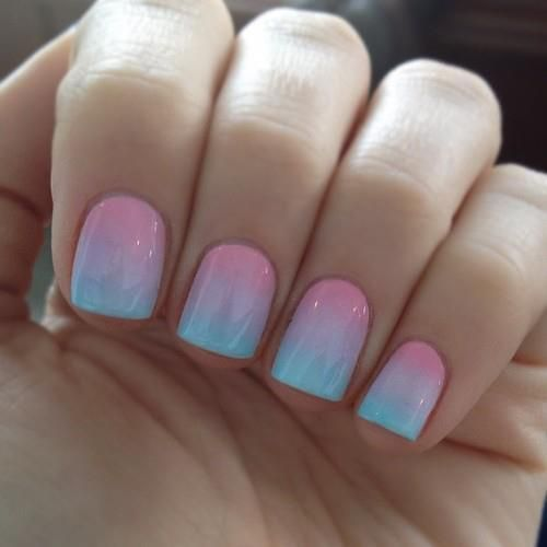 gradient nails decorated