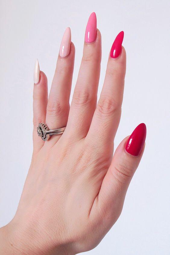 gradient nails pink 1