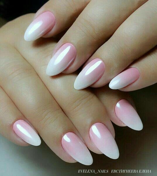 gradient nails pink