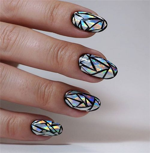 mosaic nails ideas 1