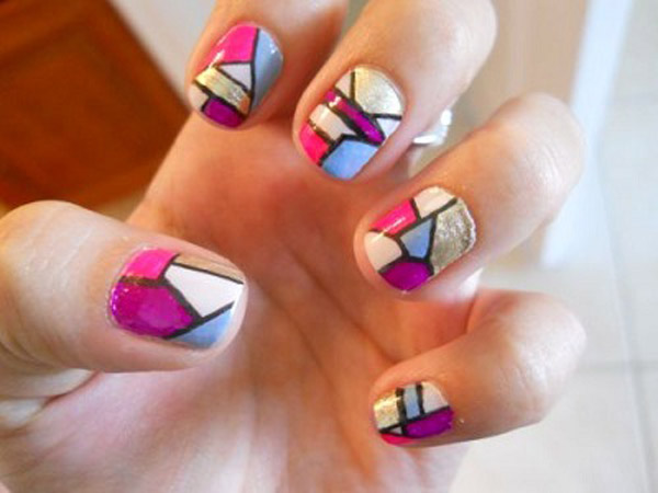 mosaic nails ideas 6