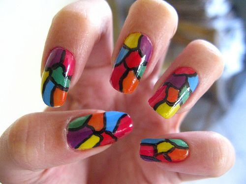 mosaic nails ideas 7
