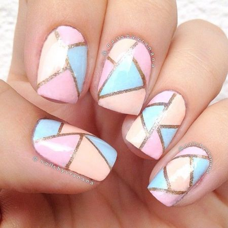 mosaic nails ideas 8