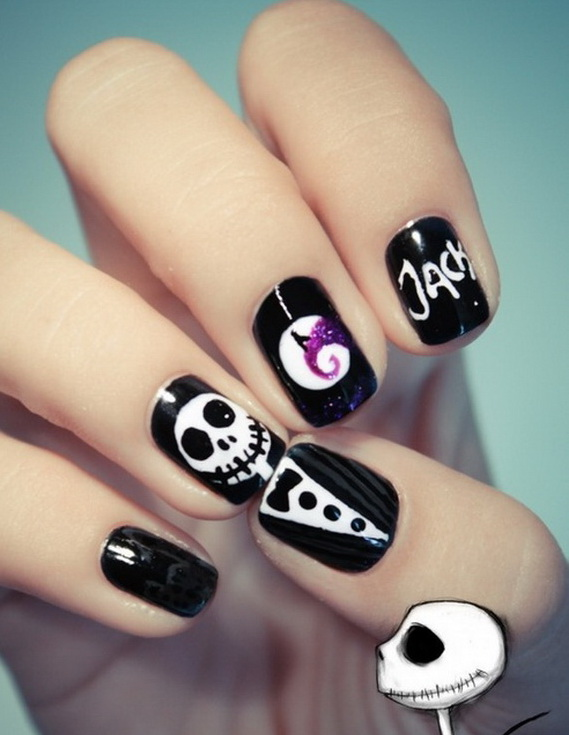 ... Skeleton Nail Art Designs nail art halloween - 10 Fun Halloween Nail Art Ideas