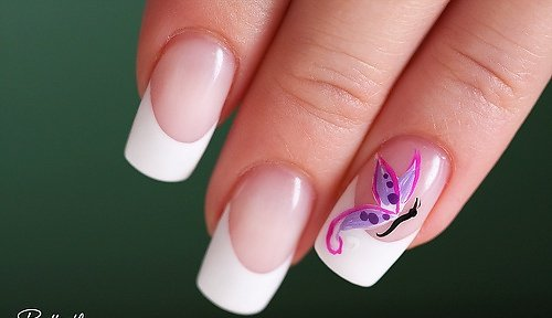 nailart   french   butterfly