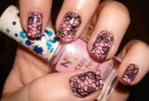 nails art lace
