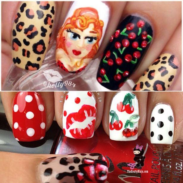 nails art pinup