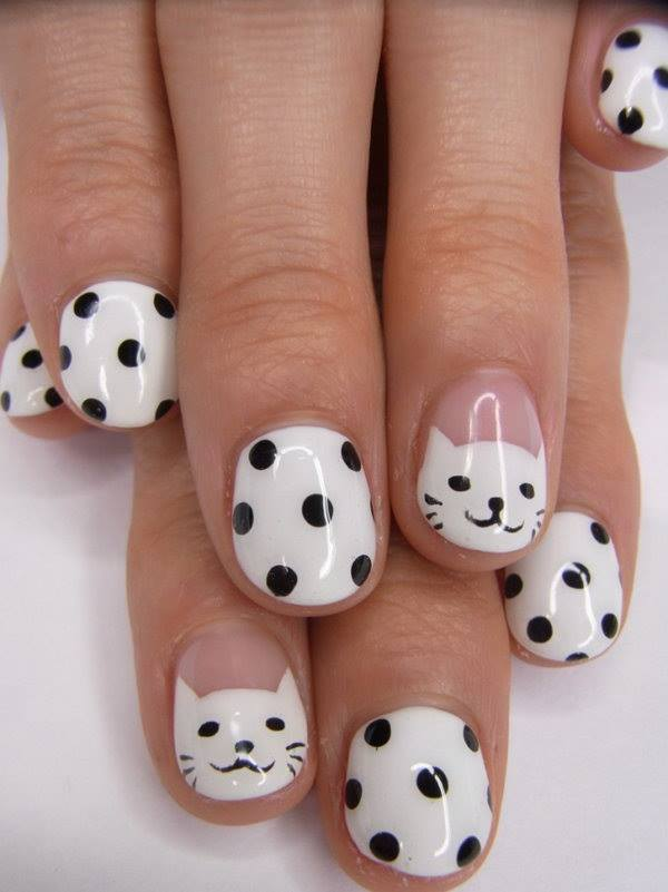 polka dot nail ideas 12