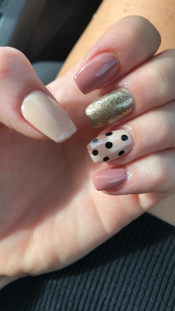 polka dot nail ideas 14