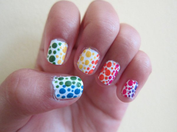 polka dot nail ideas 15