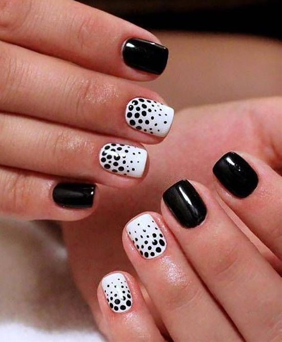 polka dot nail ideas 16