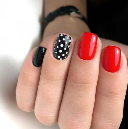 polka dot nail ideas 17