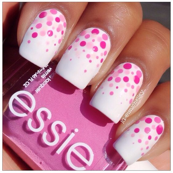 polka dot nail ideas 18