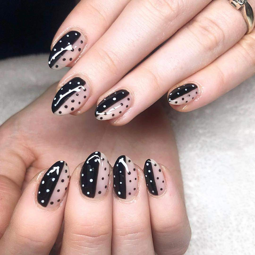 polka dot nail ideas 9