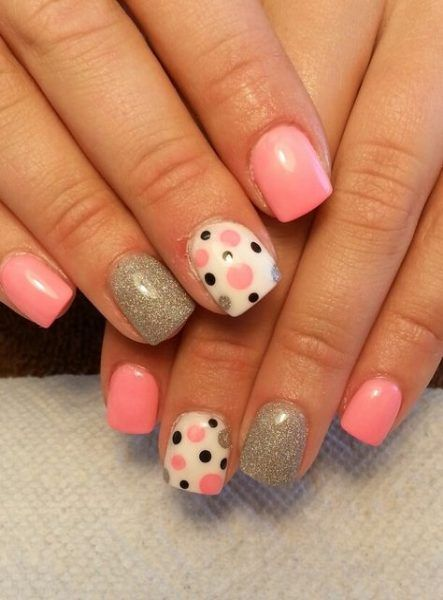 polka dot nail ideas