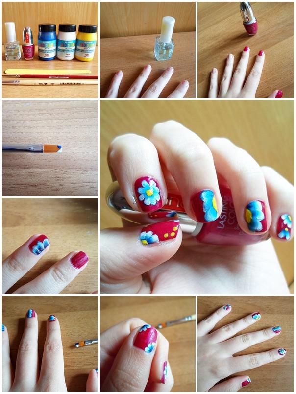 spring floral nail