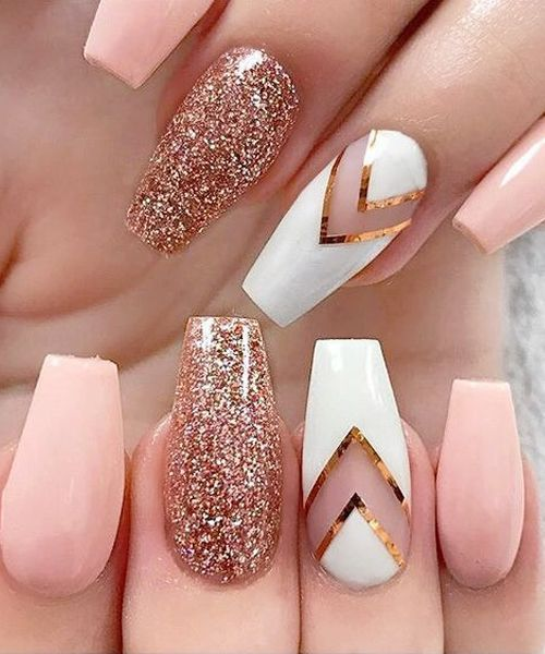 striped nail art using tape