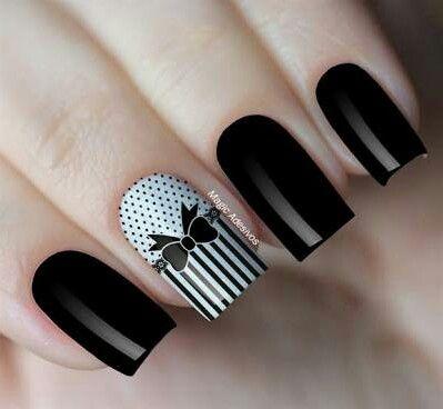 tie nail black