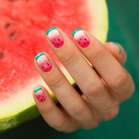 watermelon nails ideas 1