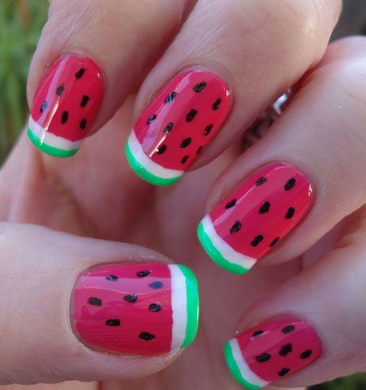 watermelon nails ideas 10