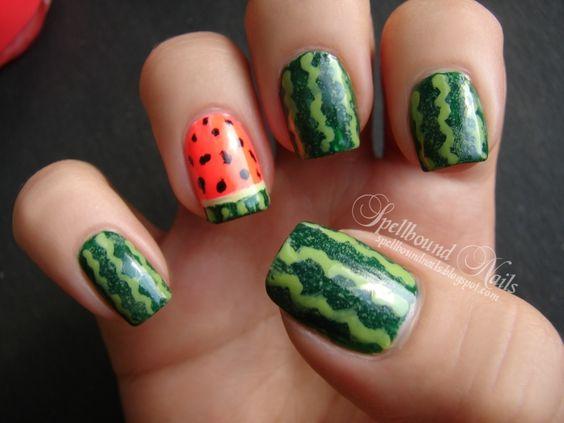 watermelon nails ideas 11
