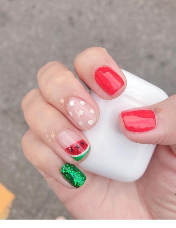 watermelon nails ideas 2