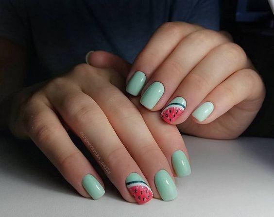 watermelon nails ideas 3