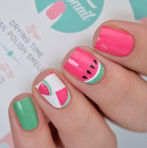 watermelon nails ideas 4