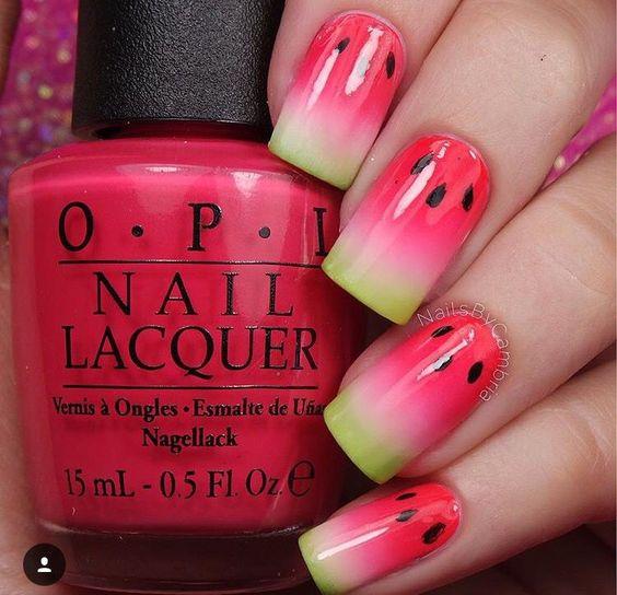 watermelon nails ideas 5