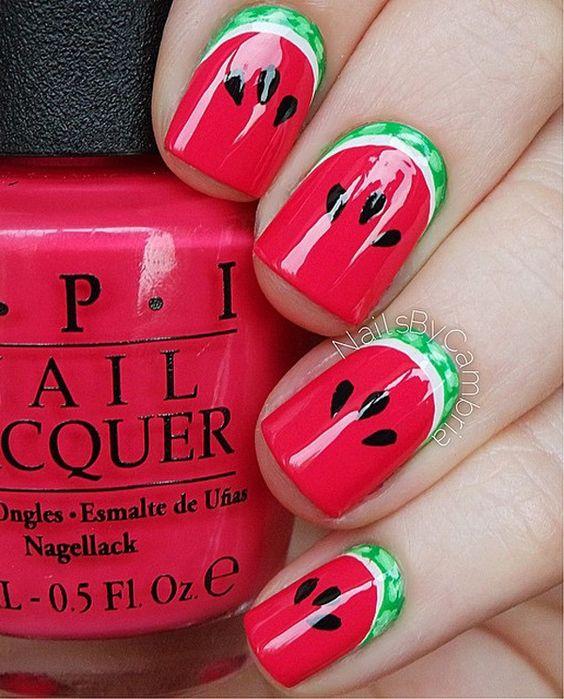 watermelon nails ideas 6