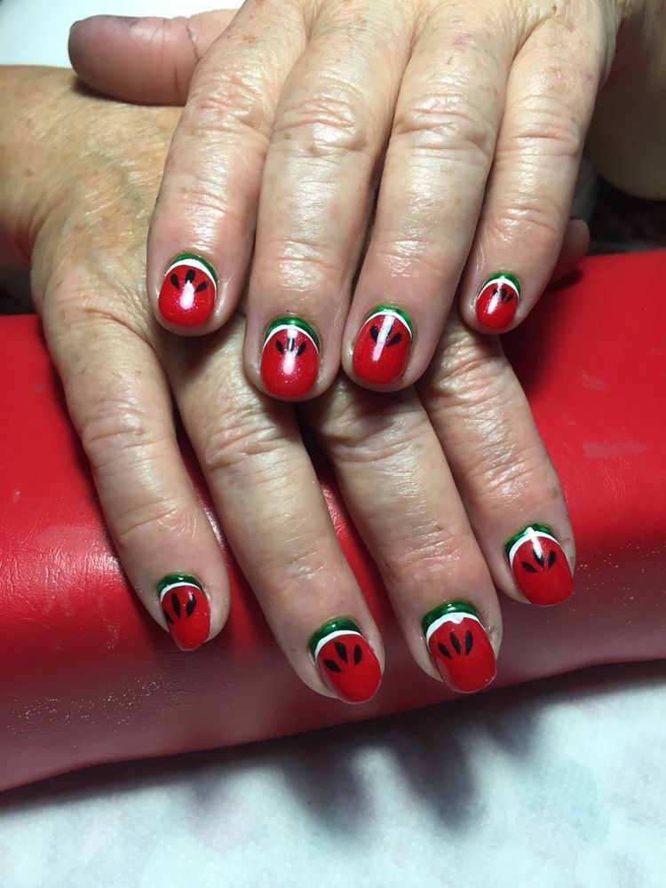 watermelon nails ideas 7
