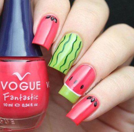 watermelon nails ideas 8