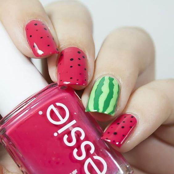 watermelon nails ideas 9