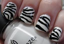zebra nails animal print